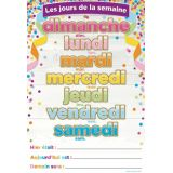 French Days Of The Week Smart Poly™ Chart 13 X 19