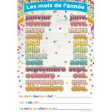French Months of the Year Smart Poly™ Chart 13 x 19
