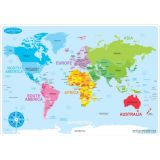 Learning Mat Basic World Map Chart
