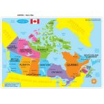 Learning Mat Canada Map