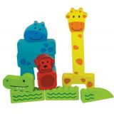 Beleduc Animal Puzzle Building Blocks