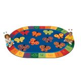 123 ABC Butterflies Carpet - Oval