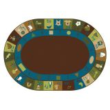Learning Blocks Nature- Oval 6'x9'