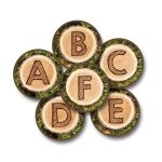 Alphabet Tree Rounds Kit 26Pcs