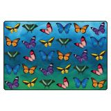 Beautiful Butterfly Seating Rug 6'X9' Rec