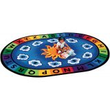 Sunny Day Learn and Play - Oval (4'5x5'10)