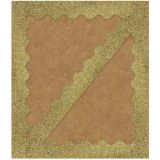 Gold Glitter Scalloped Trimmer -  Sparkle and Shine