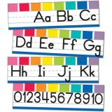 Alphabet Line Manuscript Mini Bulletin Board Set