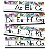 Alphabet Line: Manuscript Mini Bulletin Board Set