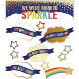 We Were Born To Sparkle Mini Bulletin Board Set