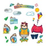 Sloth Dress Me for the Weather Bulletin Board Set 54Pcs