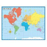 Map of the World Chart - Laminated
