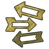 Black And Gold Arrows Cut-Outs -  New! Sparkle and Shine