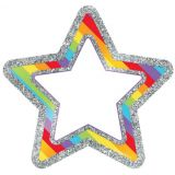 Rainbow Glitter Stars Cut-Outs -  Sparkle and Shine