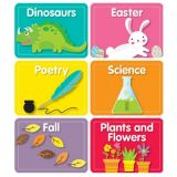 Library Labels Mini Colorful Cut-Outs