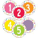 Student Numbers Mini Colorful Cut/O Asst