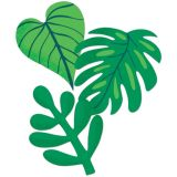 Tropical Leaves Extra Large Cut-Outs 12Pcs