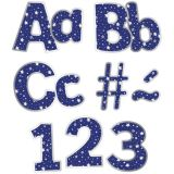 Navy Ez Letters Silver Stars Combo
