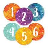 Galaxy Numbers Magnetic Cut-Outs