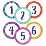 Marble Swirl Numbers Magnetic Cut-Outs