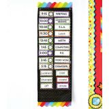 Gold Polka Dot Deluxe Scheduling Pocket Chart