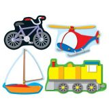 Transportation Shape Stickers