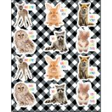 Wood Whimpsy Inspiring Animals Shape Stickers