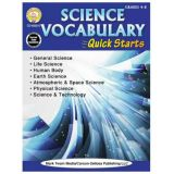Science Vocabulary Quick Starts Grades 4-8