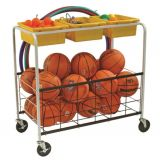 Physical Education Cart (3 Tubs & Bottom Basket)