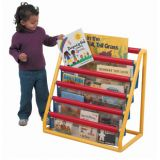 6 Pocket Clear Book Display - with Casters