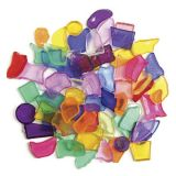 Plastic Mosaic Shapes 0.5 1Lb Bag (Assorted colours)