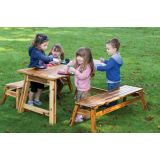 Outdoor Picnic Table & Bench Seat