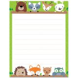 Woodland Friends Blank Chart, Lined