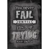 You Never Fail Until - Inspire U Poster