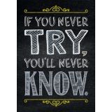 If You Never Try - Inspire U Poster