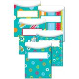 Library Pockets (Non Adhesive) - Dots on Turquoise