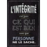 L'intégrité French Inspire U Poster