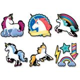 6 Designer Unicorn Cut-Outs 30Pc