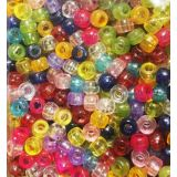 Pony Beads Assorted transparent colours