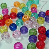 6x9mm Pony Beads Assorted glitter colours