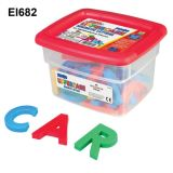 Alphamagnets and Math Magnets Jumbo Size - Uppercase 42 pieces Multicolored