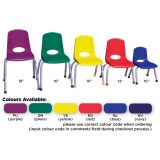 Stackable School Chairs - 12 (Red)