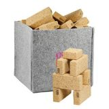 Cork Blocks with Storage - 35 Pieces  - Natural