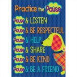 Plaid Attitude Practice the Pause Poster 13 x 19