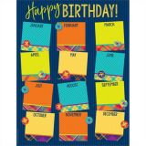 Plaid Happy Birthday Chart