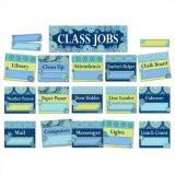 Blue Harmony Class Jobs Mini Bulletin Board Set