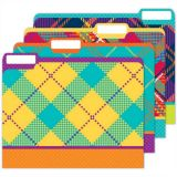 Plaid Attitude File Folders (4Pk)