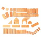 Geometrical Blocks Natural 60Pcs - Grimm's