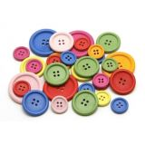 Buttons Wood Asst Sizes 20, 30, 40 mm
