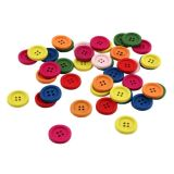 Bright Wooden Buttons - 20 mm, 40 ct